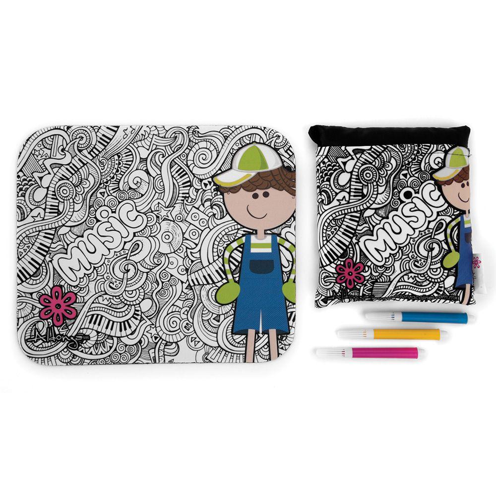 Mouse pad para colorear y Cojín de Semillas | Aldonza Cojines